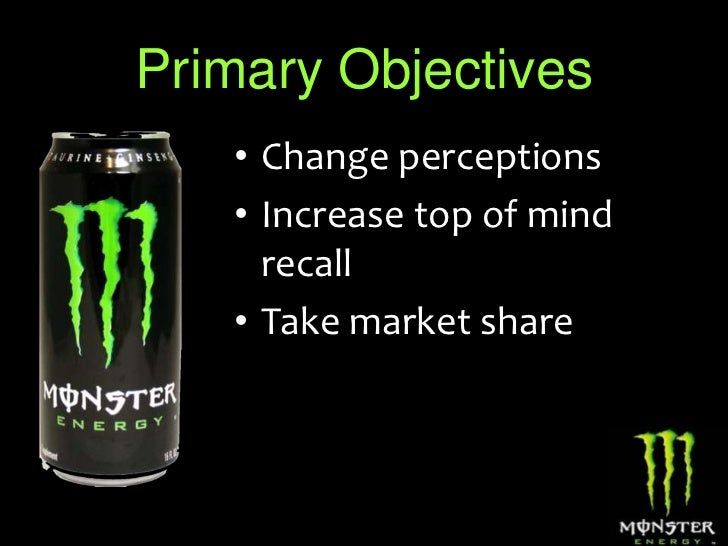 monster electrical power drink up specific market