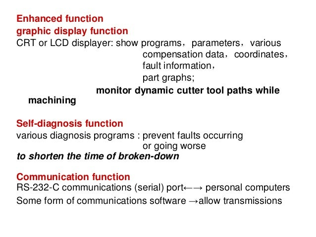 Enhanced function graphic display function CRT or LCD displayer: show programs,parameters,various compensation data,coordi...
