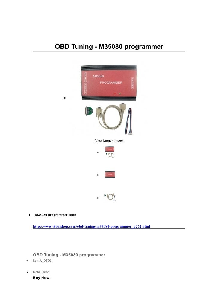 OBD Tuning - M35080 programmer                          •                                         View Larger Image       ...