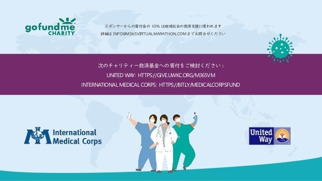次のチャリティー救済基金への寄付をご検討ください : UNITED WAY: HTTPS://GIVE.UWKC.ORG/M365VM INTERNATIONAL MEDICAL CORPS: HTTPS://BIT.LY/MEDICALCOR...