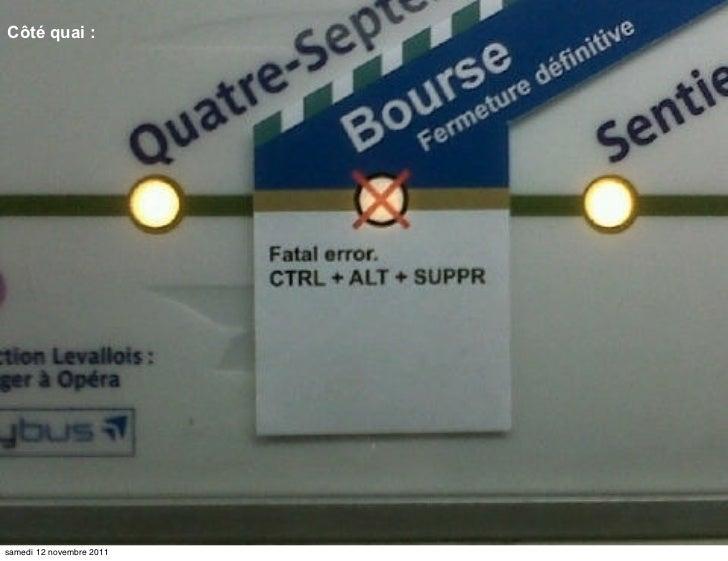Côté quai :samedi 12 novembre 2011
