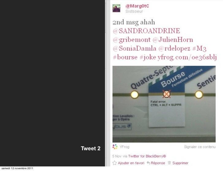 Tweet 2samedi 12 novembre 2011
