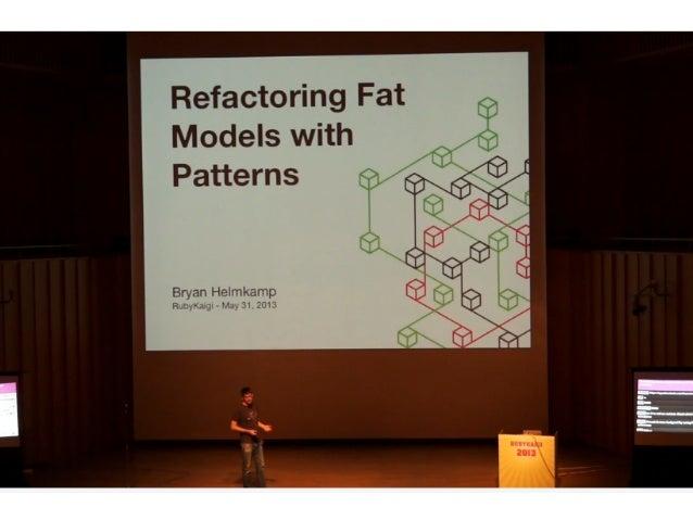@brynary • Bryan Helmkamp • Code Climate 創業者 • 顧客の Ruby コードを解析して品質・セ キュリティ改善を支援するサービス • OSS なら無料、以下は Gistub の例 • http...