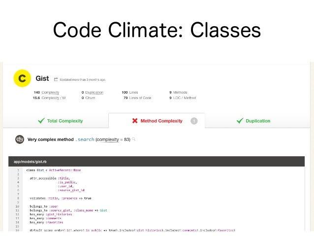 ブログエントリ • 7 Patterns to Refactor Fat ActiveRecord Models • http://blog.codeclimate.com/blog/ 2012/10/17/7-ways-to-decomp...