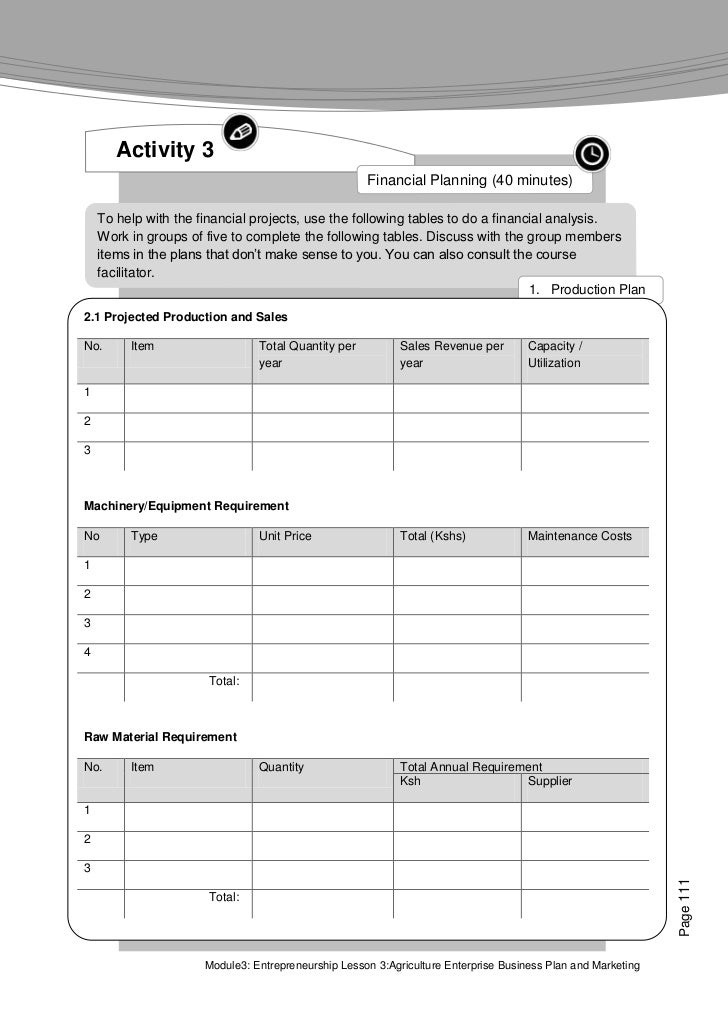 Farmer's Agribusiness Training Course: Module 3 ...