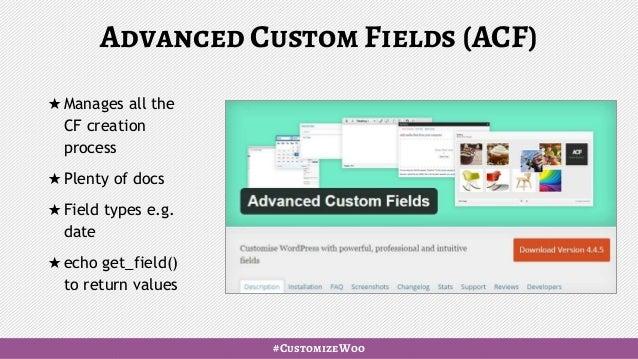 WooCommerce: custom fields