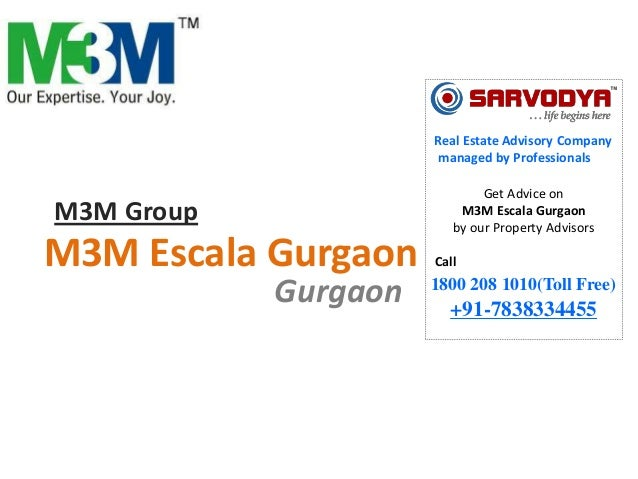 Real Estate Advisory Company managed by Professionals  M3M Group  M3M Escala Gurgaon Gurgaon  Get Advice on M3M Escala Gur...