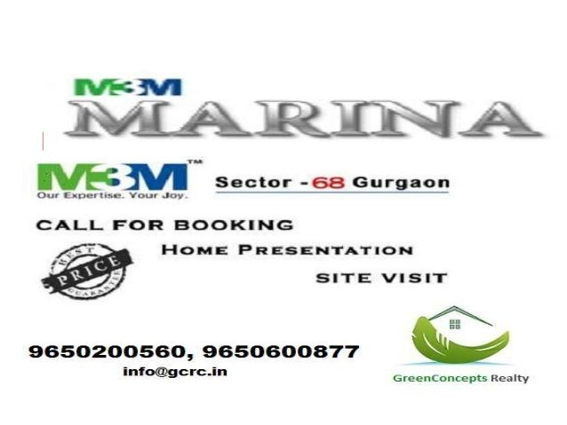 "M3M Marina : Sector 68 Sohna Road Gurgaon  • M3M group is ready to launch its new residential project  ""Marina"" in sector ..."
