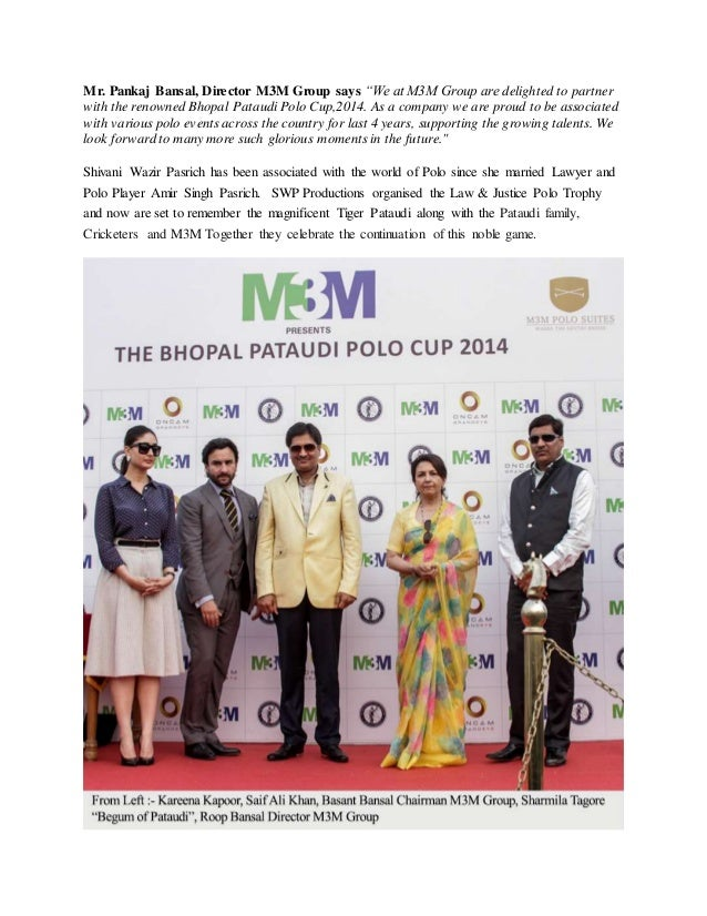 M3M Presents The Bhopal Pataudi Polo Cup 2014 Slide 3