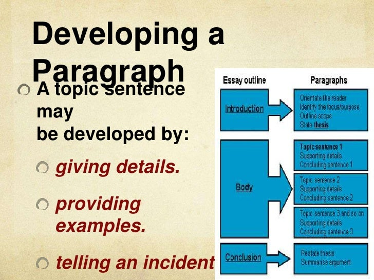 organizing paragraphs