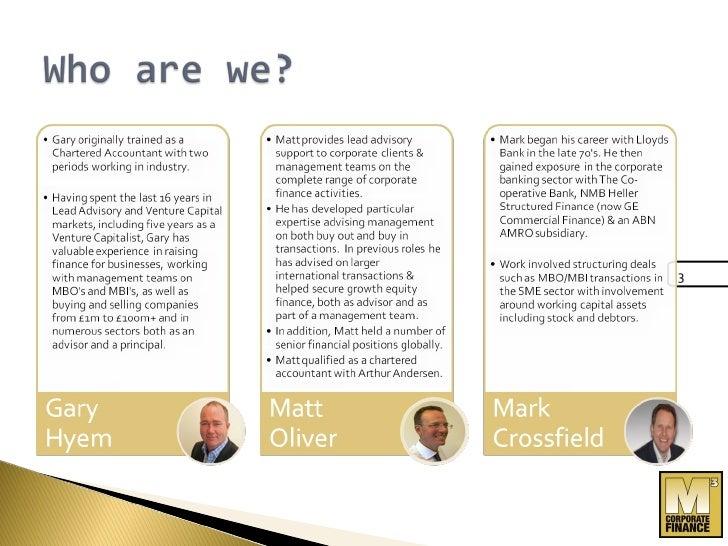 M3 Acquisition Presentation Slide 3