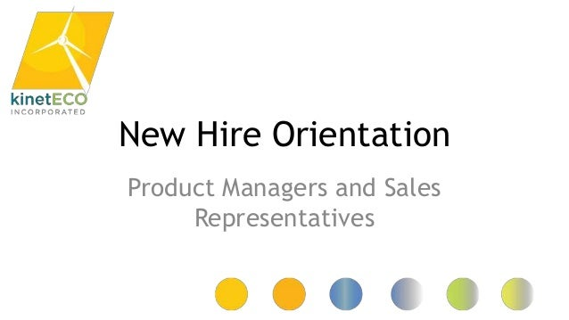 kineteco new hire orientation presentation