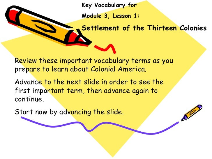 Module 3 Lesson 1 Important Introdcutory Vocabulary