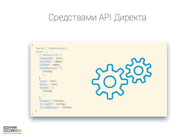 Средствами API Директа