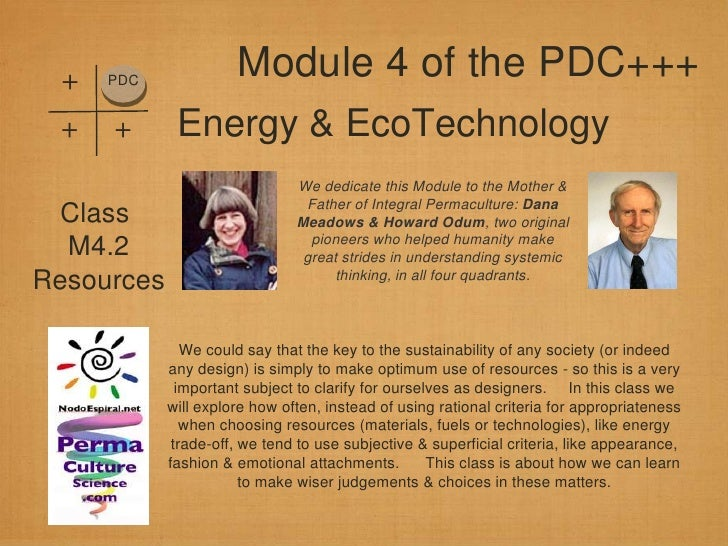 +   PDC                      Module 4 of the PDC+++ +   +       Energy & EcoTechnology                               We de...
