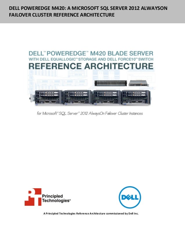 DELL POWEREDGE M420: A MICROSOFT SQL SERVER 2012 ALWAYSONFAILOVER CLUSTER REFERENCE ARCHITECTURE            A Principled T...