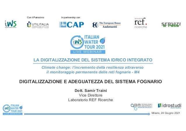 Monitoraggio della rete fognaria: alla ricerca della resilienza del sistema idrico