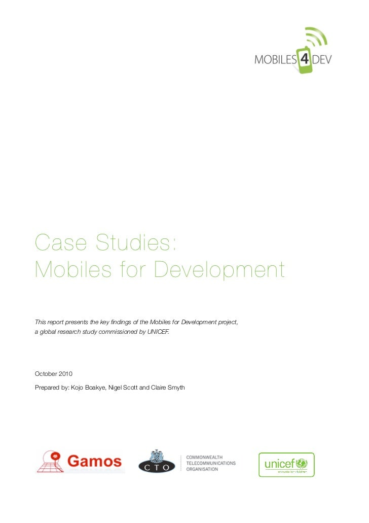 Mobiles4Development Case Studies