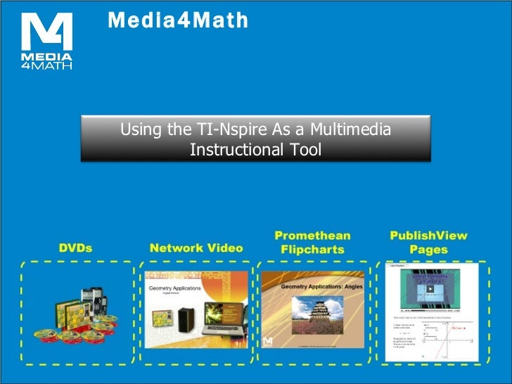 Media4Math <ul><li>An overview of our media products. </li></ul>Using the TI-Nspire As a Multimedia Instructional Tool