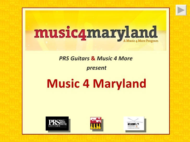 PRS Guitars  &  Music 4 More  present Music 4 Maryland