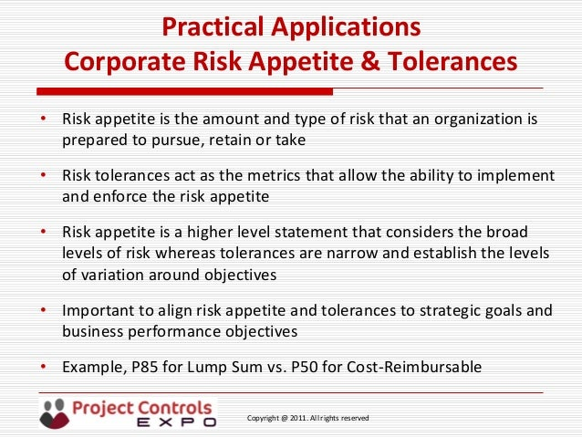 risk appetite template - project controls expo 18th nov 2014 practical