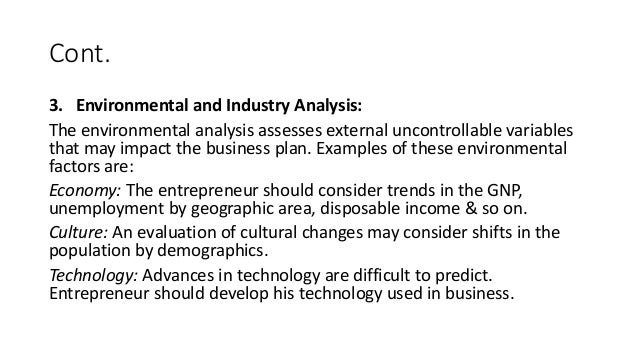 industry environment analysis example