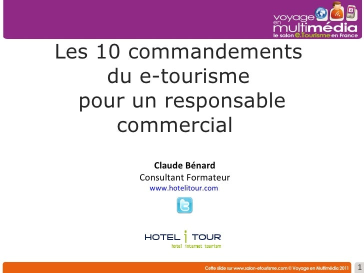 Atelier m5 10 commandements responsable commercial for Salon e tourisme