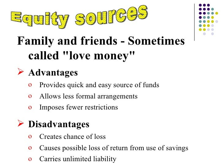 advantages and disadvantages of equity financing Advantage & disadvantage of equity capital  weigh the advantages and disadvantages of equity capital to determine if it's  what are examples of equity financing.