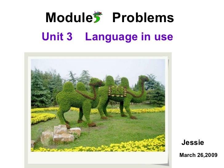 Module  Problems Unit 3  Language in use Jessie March 26,2009