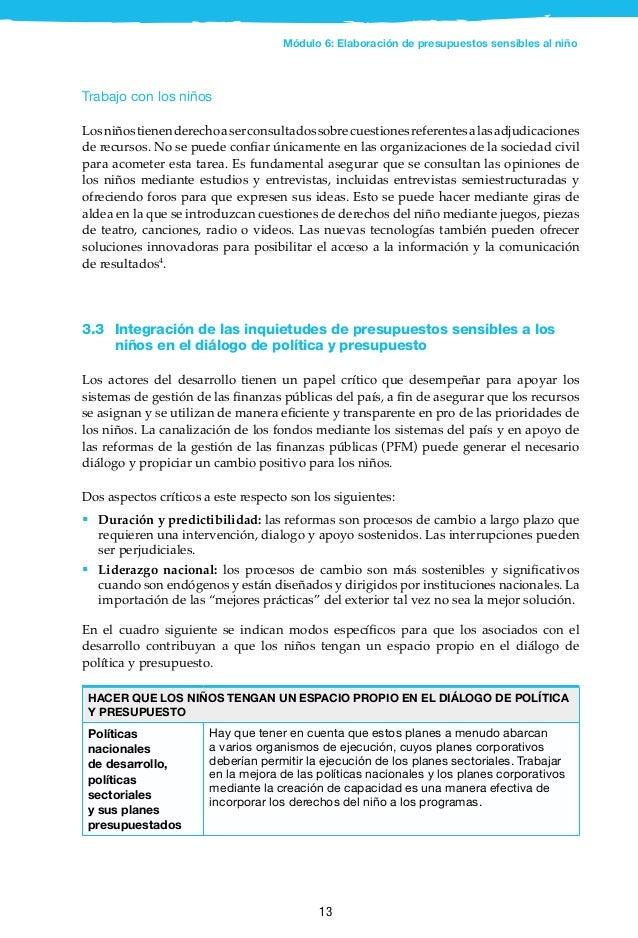14 Brasil: consejo de niños para la participación en la elaboración del presupuesto En Barra Mansa, Brasil, 18 niñas y 18 ...