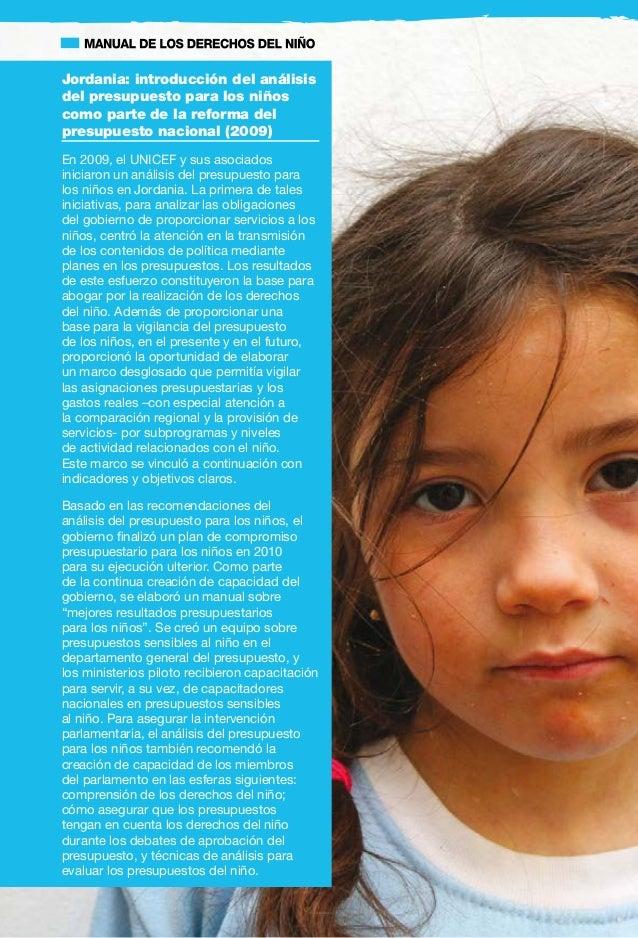 17 4. Intervenciones recomendadas en apoyo de la elaboración de presupuestos sensibles a los niños 4.1 Analizar el presu...