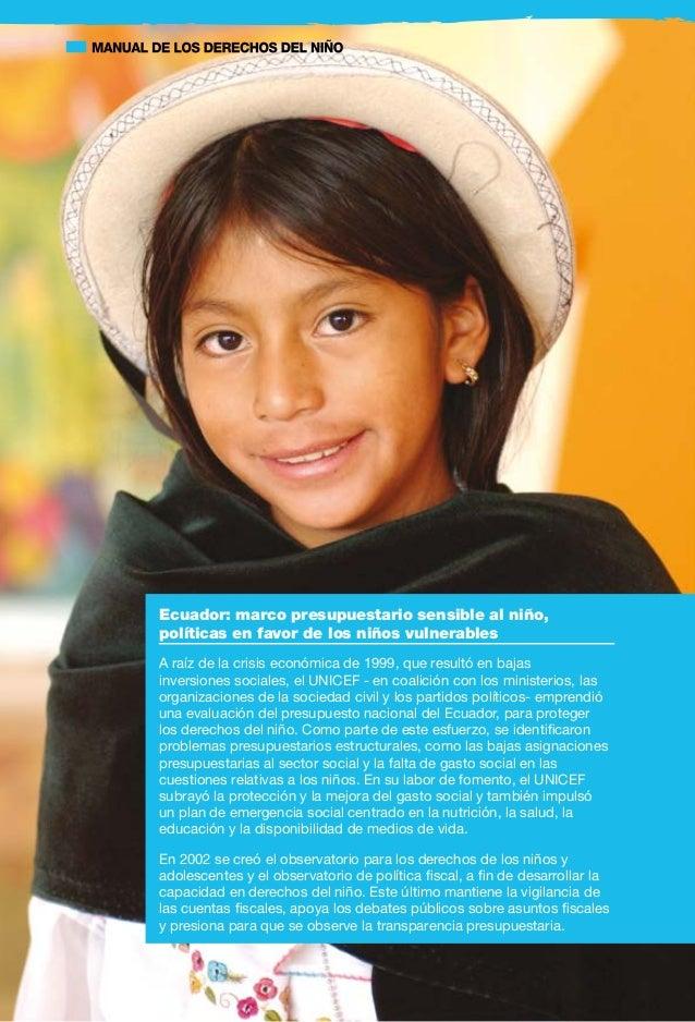 19 débiles relacionados con la supervivencia, el desarrollo o protección de los niños, puede ser importante centrar la ate...