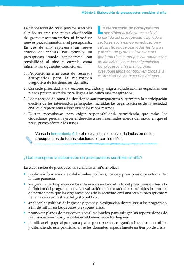 8 2.3 Panorama general del proceso de elaboración del presupuesto El proceso para cuadrar un presupuesto implica difícile...