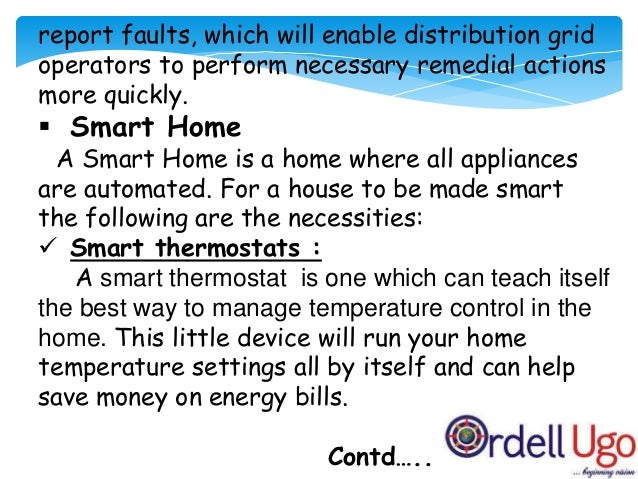 Smart thermostats :