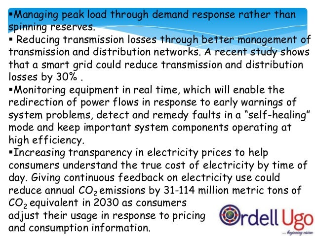 Limitations of smart grids:  smart meters will be more accurate than current electromechanical meters, hence the customer...