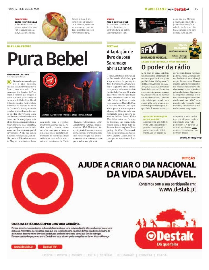 DESTAK – Lisboa – 15.05.2008