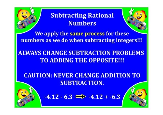 M7 Lesson 1 6 Adding Subtracting Rational Numbers Pdf