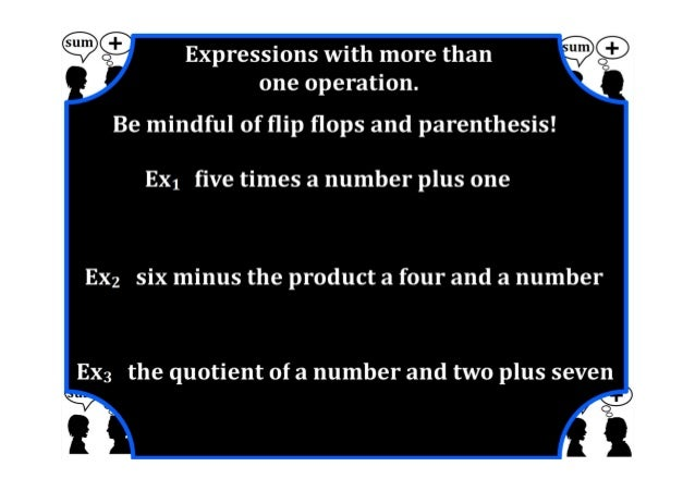 M7 lesson 2 1 represent & translate algebraic exprions & equations part 2 pdf