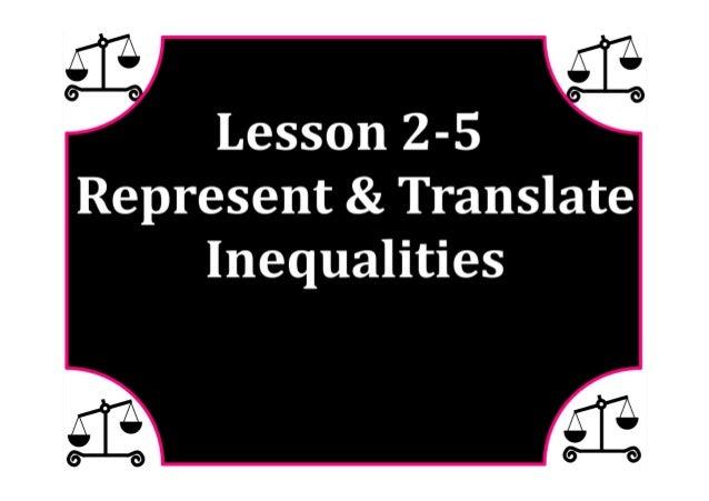 M7 lesson 2 5 represent & translate inequalities pdf