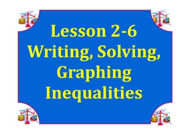 M7 lesson 2 6 write, solve graph inequalities pdf