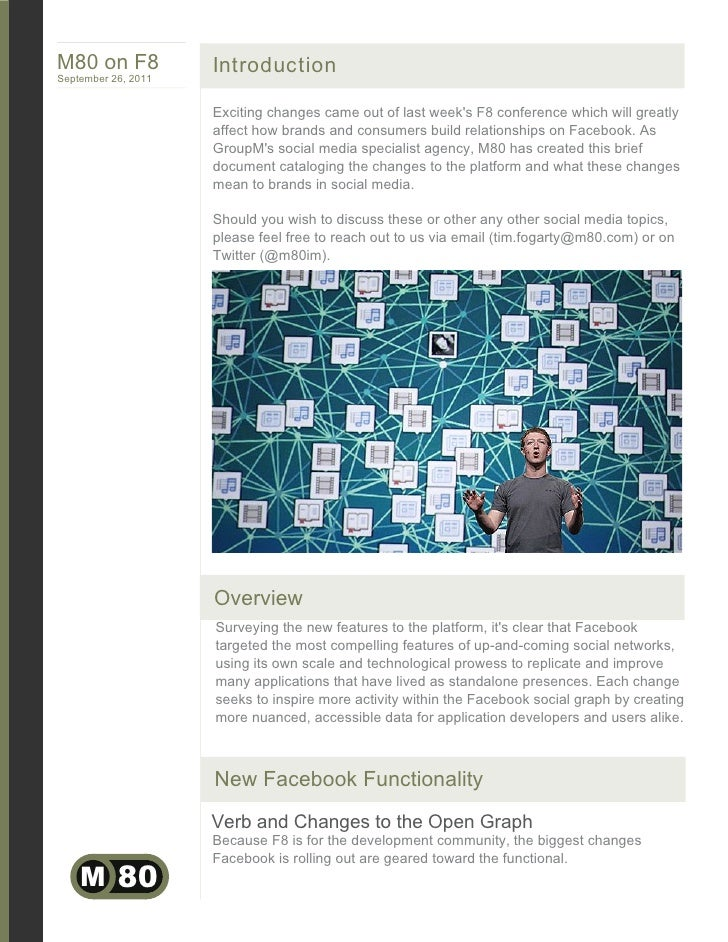 M80 on F8            IntroductionSeptember 26, 2011                     Exciting changes came out of last weeks F8 confere...