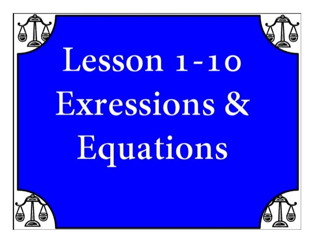 M8 acc lesson 1 10 expression & equations ss
