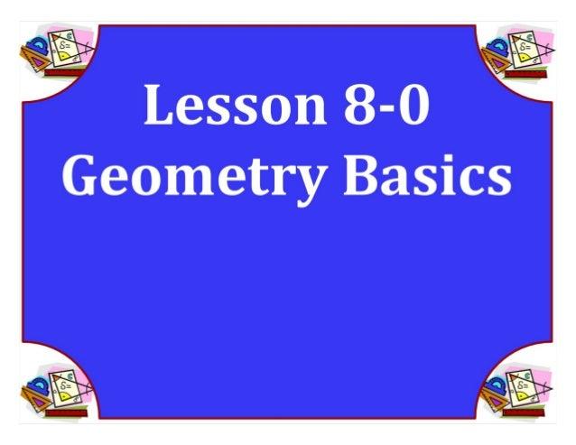 M8 acc lesson 8 0 geometry basics