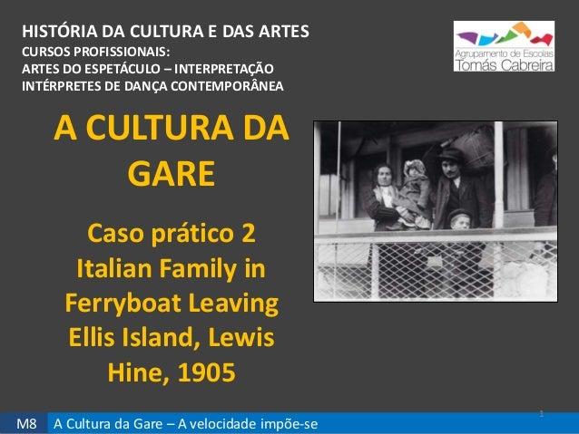M8 A Cultura da Gare – A velocidade impõe-se HISTÓRIA DA CULTURA E DAS ARTES CURSOS PROFISSIONAIS: ARTES DO ESPETÁCULO – I...