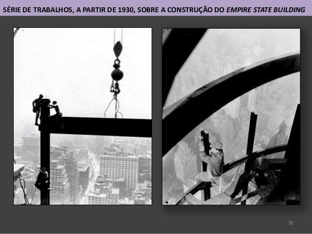 70 SÉRIE DE TRABALHOS, A PARTIR DE 1930, SOBRE A CONSTRUÇÃO DO EMPIRE STATE BUILDING