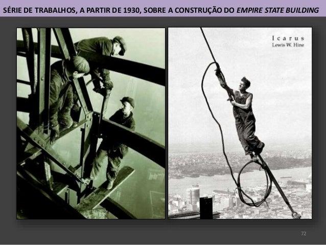 72 SÉRIE DE TRABALHOS, A PARTIR DE 1930, SOBRE A CONSTRUÇÃO DO EMPIRE STATE BUILDING
