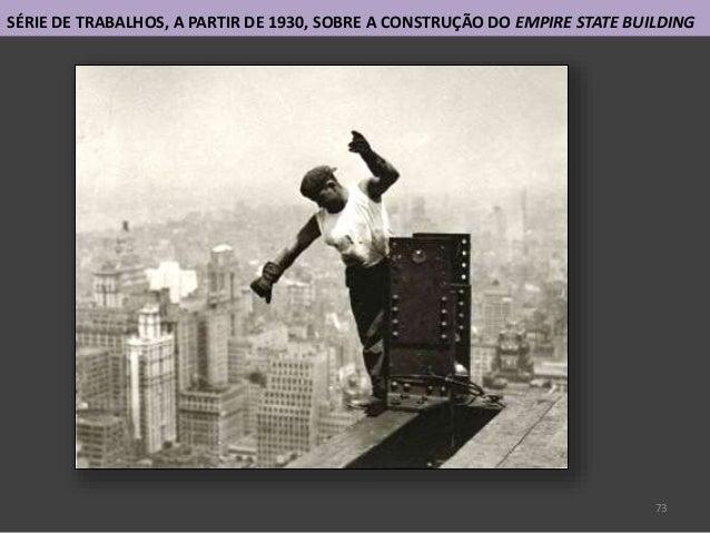 73 SÉRIE DE TRABALHOS, A PARTIR DE 1930, SOBRE A CONSTRUÇÃO DO EMPIRE STATE BUILDING