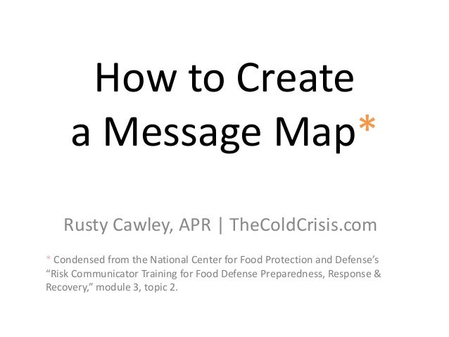 Message Map Template How to create a message map