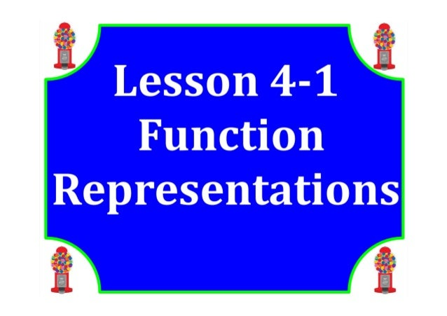 M8 lesson 4 1 function representations