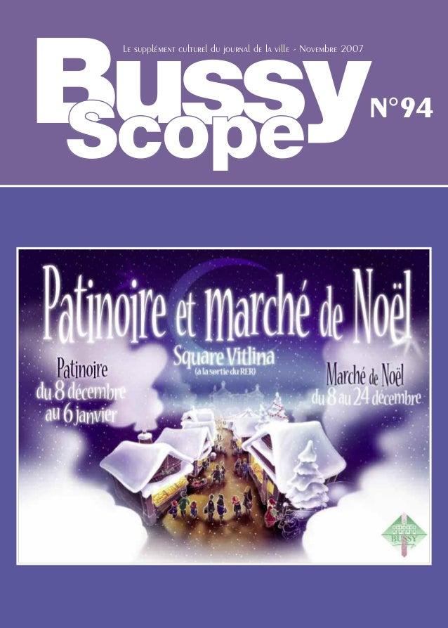 Bussy Le supplément culturel du journal de la ville - Novembre 2007                                                       ...